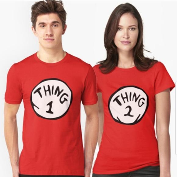 Universal Studios Tops Nwot Thing 1 Thing 2 Hishers Costume Xl M